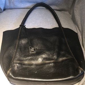 Botkier Black Soho Tote with Zipper Detailing
